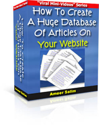 Product picture How To Create A Huge Database Of Articles On Your Website MR